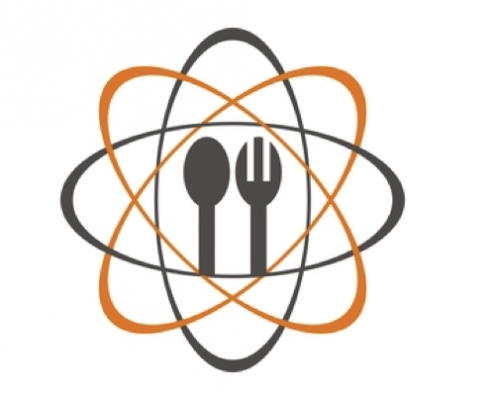 Scientist lunch icon with a spoon and a fork in it.